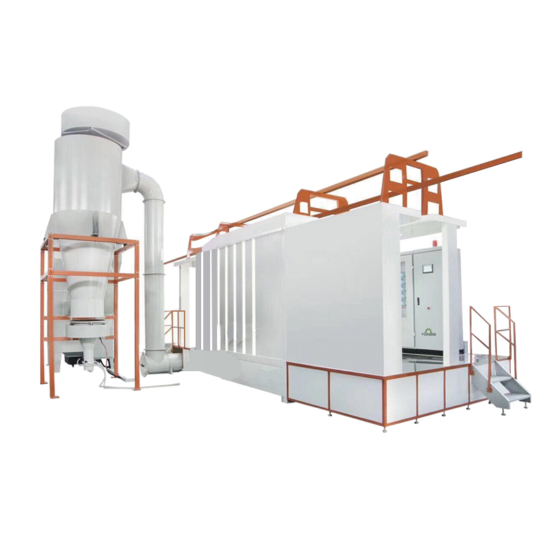 Plastic Powder Coating Spray Booth with Cyclone Recovery System